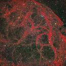 Ball of Scarlet Lightening  (Sh2-240, Simeis 147, SNR G180. 0-01.7),                                Gary Lopez