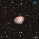 M1 Crab Nebula - Ha OIII RGB,                                Francesco di Biase