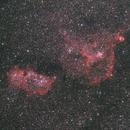 Heart and Soul Nebula Cannon T3i at 135 mm (Star Adventurer First Light),                                Brandon Tackett