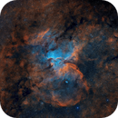 Rim Nebula (NGC 6188) Wide Field SHO,                                Tom Peter AKA Astrovetteman