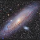 M31 Andromeda Galaxy, M32 and M110 Galaxies in L(R+HA)GB,                    Kayron Mercieca