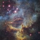 NGC 2244 Rosette Nebula detail,                                Kevin Osborn