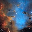 NGC 281 Pacman Nebula, Close-up at F/10,                                David Dvali