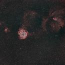 Rosette Nebula, Cone Nebula, and Friends at 85mm in HOO,                                JDJ