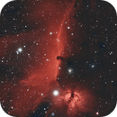 The Horsehead and Flame Nebulae in Duo Narrowband,                                Oisín Dorgan