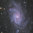 M33, Triangulum Galaxy DSLR + COLDMOS Mono,                                Gianni Cerrato