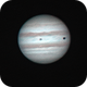 Jupiter + Ganymed + shadow of Ganymed 22h30 - 00h04,                                antares47110815