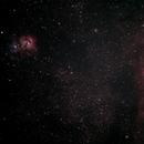 Trifid and Lagoon Nebula,                                David Quattlebaum