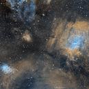 Bubble Nebula (NGC 7635) and its neighbors in SHO,                                Girish