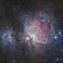 M42 The Great Orion Nebula  Ha(Lum) + OSC Complete Redo Edit with Improved Core,                                Brandon Tackett