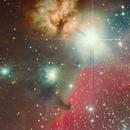 Horsehead Nebula,  flame and other neighbors,                                Ata Faghihi Mohaddess