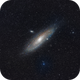 M31 in fog and clouds,                                Ben