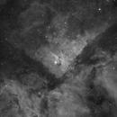 Eta Carinae 2-panel mosaic in h-alpha,                                Leonel Padron