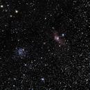 M52 and Bubble nebula,                                Luca_M