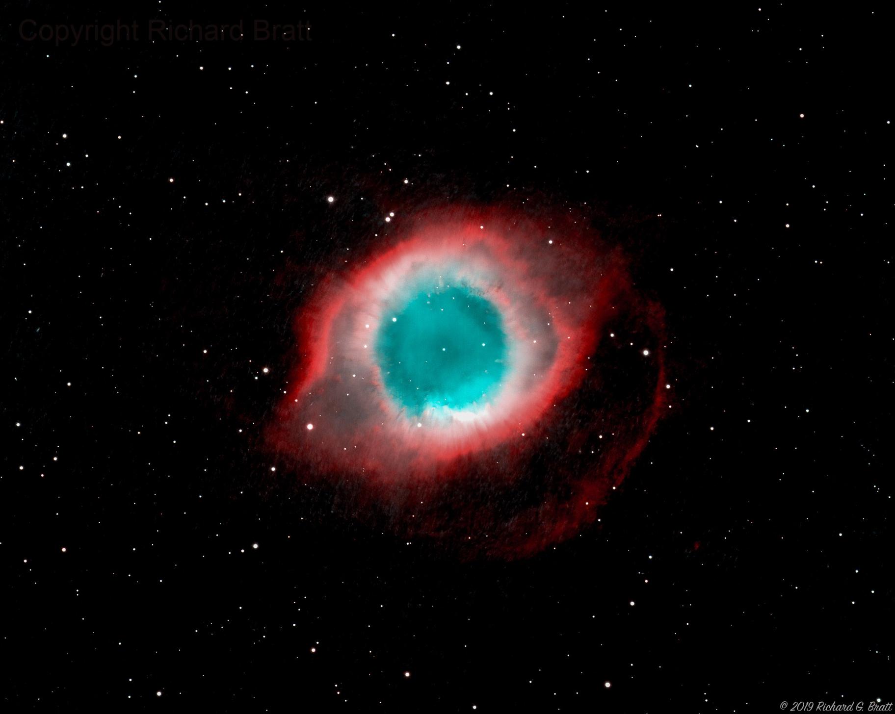 NGC7293 - Helix Nebula,                                Richard Bratt