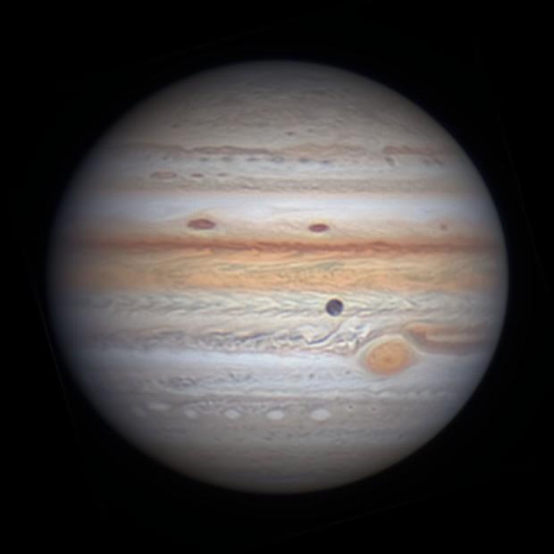 Jupiter with Ganymede in Transit,                                Michael Wong