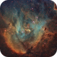 IC 2944 - The Bok Globules in Running Chicken Nebula (SHO) - New Rendition,                                Ariel Cappelletti