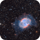Dumbell Nebula M27  in HaO3 and RGB,                                Arnaud Peel