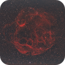 Simeis 147 (Sh2-240) Spaghetti Nebula from Bortle 8,                                Carastro