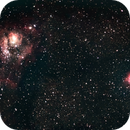 The Lagoon and Trifid Nebulae (M8 and M20),                                estabrook