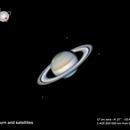 Saturn and three satellites,                                MAILLARD