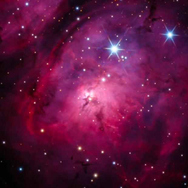 Core of Lagoon Nebula,                                Colin