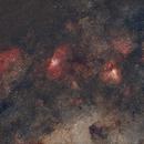 Omega and Eagle nebulas - HaRGB,                                TC_Fenua