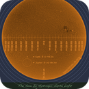The Sun In Hydrogen-Alpha Light, June 24, 2015: with scale,                                wjlee