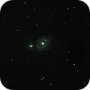 M51 Whirlpool Galaxy-Meade 80 ED triplet-Orion flattener-Canon 100D-crop,                                Adel Kildeev