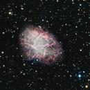 Messier 1 (Nébuleuse du crabe) en Ha_LRGB,                                Denis Bergeron