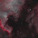 NGC 7000 and IC 5070 North America and Pelican Nebulae in Narrowband,                                Eshan Toorabally