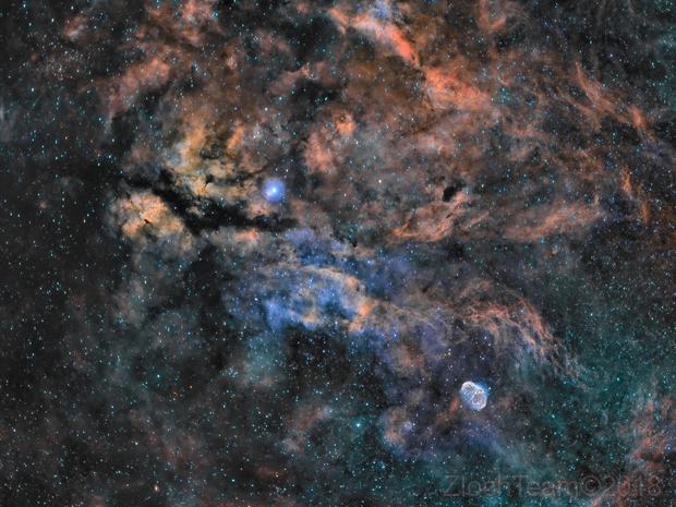 IC1318 - Le papillon, ainsi que NGC6888 - le croissant,                                ZlochTeamAstro