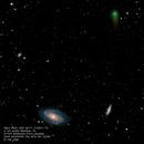 M81, M82, NGC3077 and Comet C/2017 T2 PanSTARRS,                                Robert Van Vugt