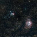 Trifid + Lagoon Nebula,                                Fahd Bin Abdul Hasis