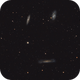 Leo Triplet  with 3 different telescopes,                                Arno Rottal