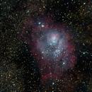 Lagoon and Trifid Nebulas (M8 / M20) wide field,                                rdk_CA