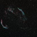 Veil Nebula with Vintage Camera Lens,                                FrostByte