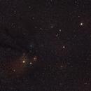 Région d'Antares dans la constellation du scorpion avec la belle saturne,                                Nicolas JAUME