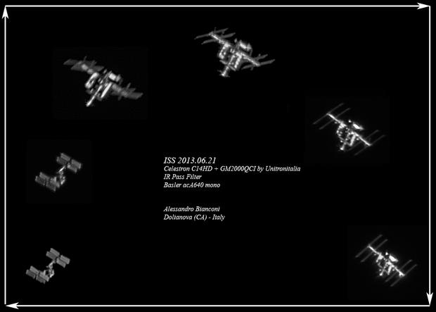 Alone agaist ISS :-),                                Alessandro Bianconi