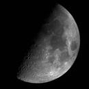 Half Moon - 20200727 - Bresser AR102-XS - Green Narrowband,                                altazastro