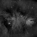 Cone Nebula, Christmas Tree Cluster, Ha,                                Stephen Garretson