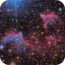 The happy and colorful dementors of Cassiopeia - IC 63 and IC 59,                                Stefan Böckler
