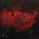 IC1848 Embryo/Soul Nebula in H-alpha - RGB,                                Schicko