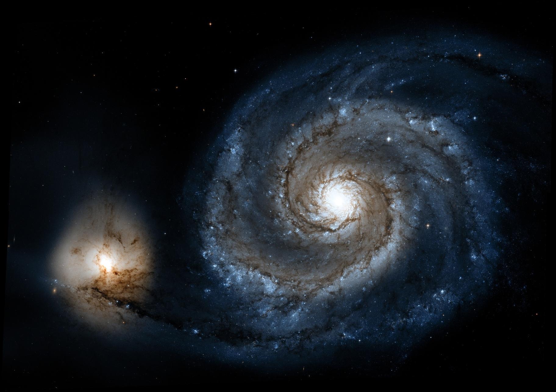 Hubble M51 Processed in PixInsight,                                Dan West