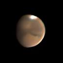 Mars - First Image with a new Celestron C11,                                Timothy Martin & Nic Patridge