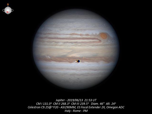 Jupiter & Io - 2019/6/13,                                Baron