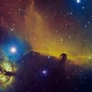 IC434 NGC2024 Hubble Palette,                                Станция Албирео