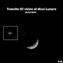 Transito ISS vicino al disco lunare,                                Spock