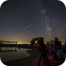 ISS and Milky Way while imaging,                                Sebastiano Recupero