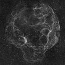 Spaghetti Nebula (simeis 147 / sh2-240) in Ha,                                Nico Carver